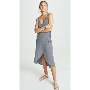 Z Supply Capri Striped Strappy Wrap Dress NEW